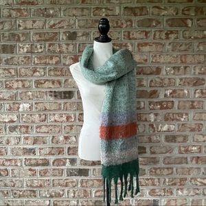 A New Day Thick Green Fringe Trim Blanket Wrap